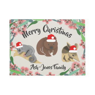 Tapete Animais australianos do bebê do Feliz Natal