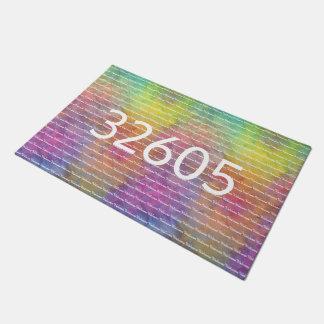Tapete [Arco-íris Frost] boa vinda Multi-Colorida da