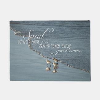 Tapete Areia entre suas citações da praia dos dedos do pé
