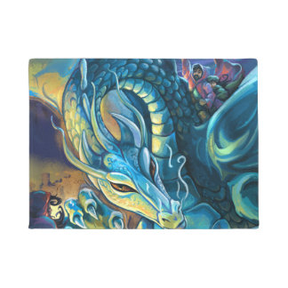 Tapete Arte da fantasia do cavaleiro do dragão