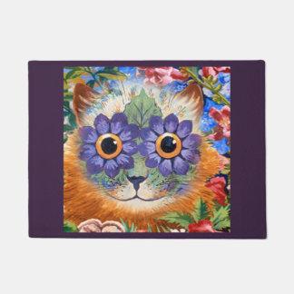 Tapete Arte roxa do gato da flor do Hippie de Wain do