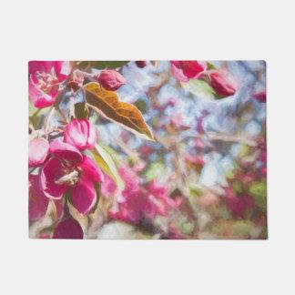 Tapete Árvore de cereja no Doormat da flor