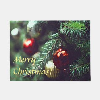 Tapete Árvore do feriado do Feliz Natal com ornamento