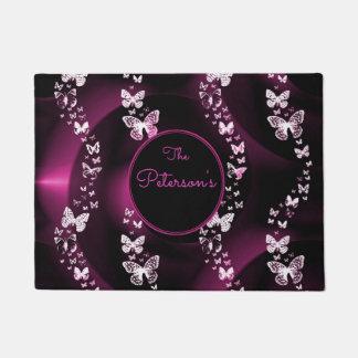 Tapete As borboletas cor-de-rosa, adicionam o Doormat do