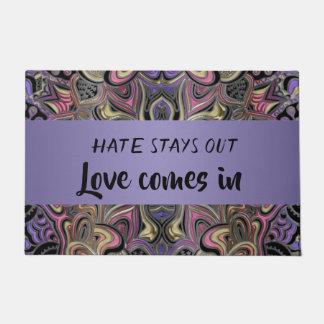Tapete As estadas do ódio para fora amam vêm no Doormat
