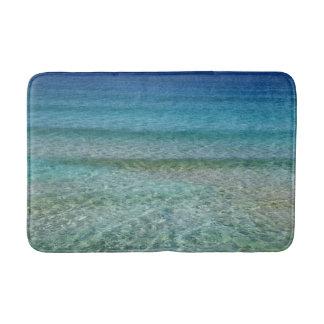 Tapete azul da esteira do banho maria do oceano