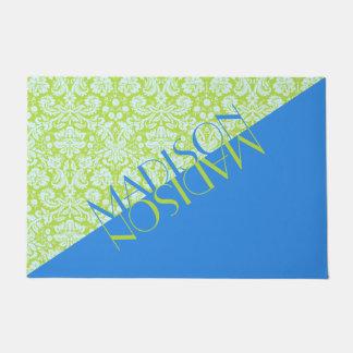 Tapete Azul na moda do verde limão da forma do recurso do