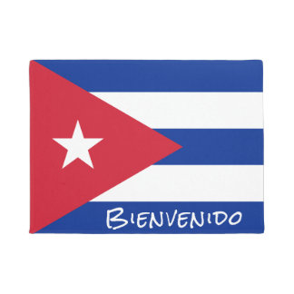 Tapete Bandeira da boa vinda de Cuba