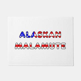 Tapete bandeira do malamute do Alasca no nome