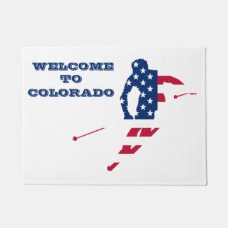 Tapete Bandeira dos EUA do americano de esqui de América