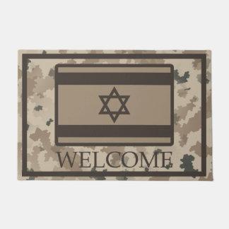 Tapete Bandeira israelita no deserto Camo - boa vinda