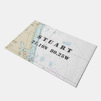 Tapete Barco náutico da longitude da latitude de Stuart