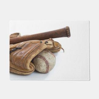 Tapete Basebol e bastão do vintage