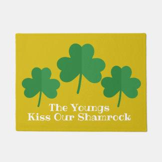 Tapete Beijo da esteira bem-vinda | do dia de St Patrick
