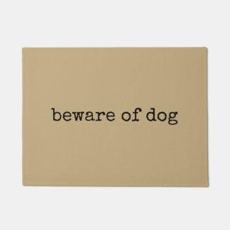 Tapete Beware do doormat do cão