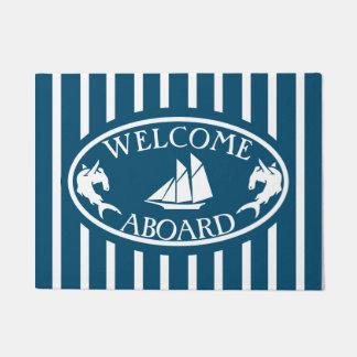 Tapete Boa vinda a bordo CONTRA náutico