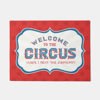 """Tapete Boa vinda ao circo (eu significo, """"SEU NOME de"""