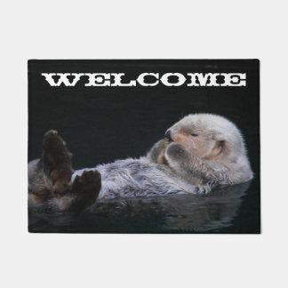 Tapete Boa vinda bonito da foto da lontra de mar