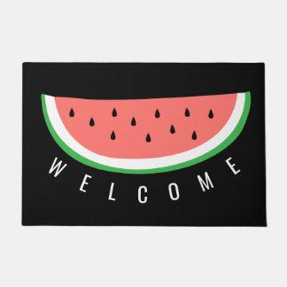 Tapete boa vinda da fatia da melancia