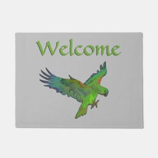 Tapete Boa vinda do papagaio