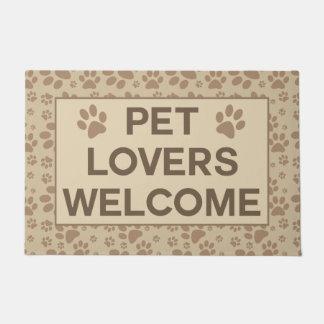 Tapete Boa vinda dos amantes do animal de estimação