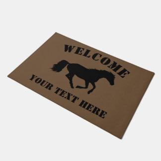 Tapete Boa vinda dos cavaleiros do cavalo ou do pônei
