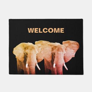 Tapete Boa vinda dos elefantes