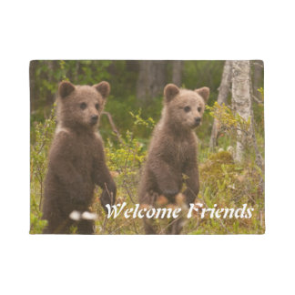 Tapete boa vinda dos ursos do bebê