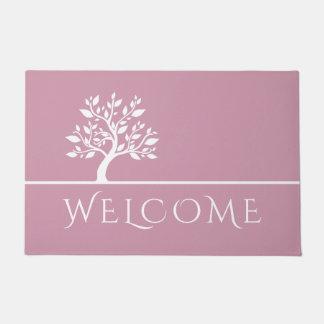 Tapete Boa vinda elegante elegante cor-de-rosa moderna da