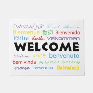 Tapete Boa vinda em muitas línguas