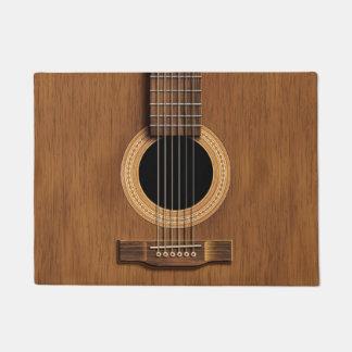 Tapete Boa vinda rústica de madeira da música da guitarra