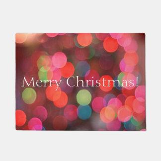 Tapete Bokeh colorido ilumina o Feliz Natal que