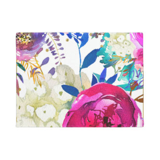 Tapete Botânico moderno floral colorido corajoso