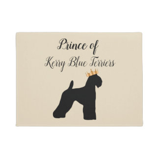 Tapete Cão engraçado Breedroyalincess de Terrier de azul