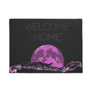 Tapete Casa bem-vinda, Doormat grande da montanha da lua