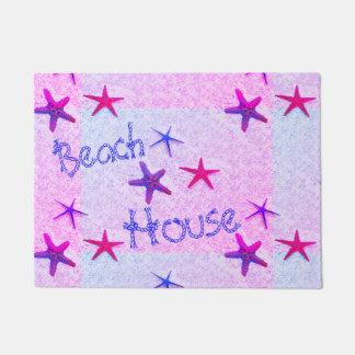 Tapete Casa de praia, Doormat cor-de-rosa da estrela do