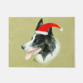 Tapete Chapéu do papai noel do Natal de w do cão de
