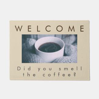 Tapete Cheire a esteira de porta do café