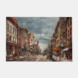 Tapete Cidade - NY - o mercado nunca em mudança 1906