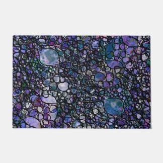 Tapete Círculos abstratos desenhados mão, azul, roxo,