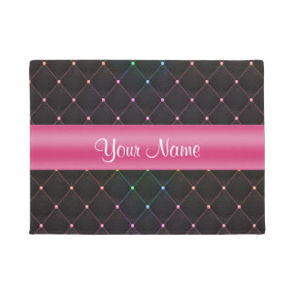 Tapete Colorido preto cor-de-rosa acolchoado chique