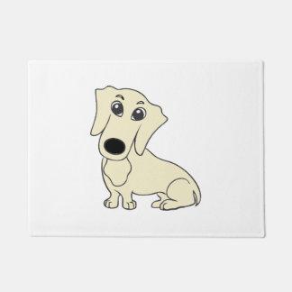 Tapete creme dos desenhos animados do dachshund