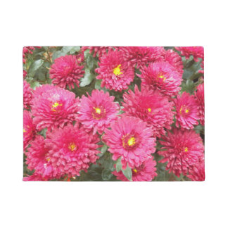 Tapete Crisântemos vermelhos florais