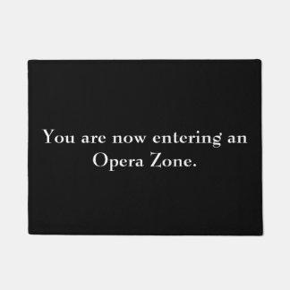 """Tapete Da """"doormat da zona ópera"""""""
