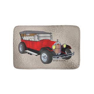 Tapete De Banheiro 1923 velhos que visitam, vermelho -