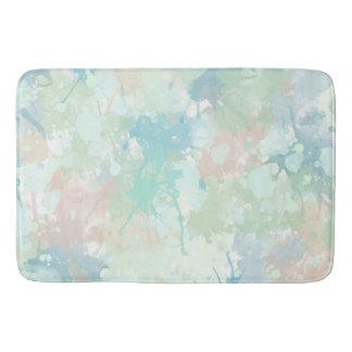 Tapete De Banheiro A aguarela azul da hortelã abstrata espirra