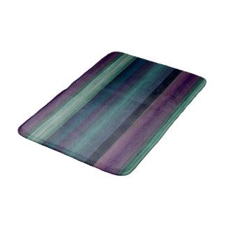 Tapete De Banheiro A aguarela roxa do verde azul da cerceta listra o