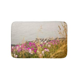 Tapete De Banheiro A angra do oceano com flores rega/esteira de banho