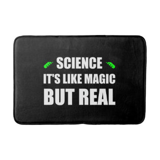 Tapete De Banheiro A ciência gosta da mágica mas reais