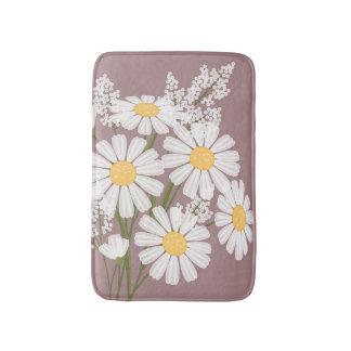 Tapete De Banheiro A margarida branca floresce o buquê no rosa escuro